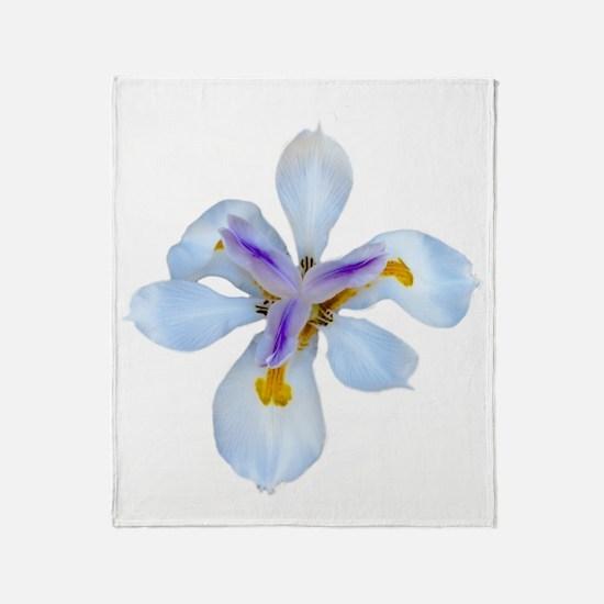 Cute Iris Throw Blanket