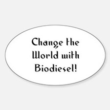 Change the World with Biodies Oval Decal