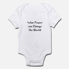 Solar Power can Change the Wo Infant Bodysuit