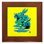 White Rabbit with Trumpet Framed Tile