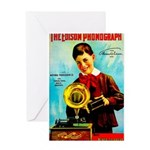The Edison Phonograph Greeting Cards
