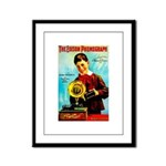 The Edison Phonograph Framed Panel Print