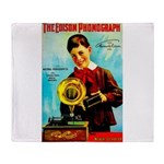 The Edison Phonograph Throw Blanket