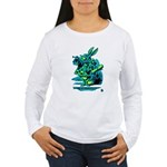 White Rabbit with Trumpet Women's Long Sleeve T-S