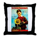 The Edison Phonograph Throw Pillow