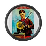 The Edison Phonograph Large Wall Clock
