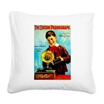 The Edison Phonograph Square Canvas Pillow