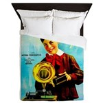 The Edison Phonograph Queen Duvet