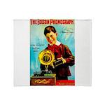 The Edison Phonograph Throw Blanket