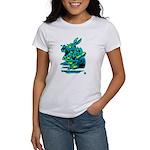 White Rabbit with Trumpet Women's T-Shirt