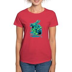 White Rabbit with Trumpet Women's Dark T-Shirt