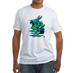White Rabbit with Trumpet Fitted T-Shirt