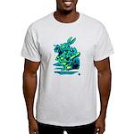 White Rabbit with Trumpet Light T-Shirt
