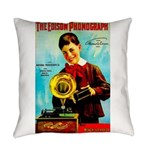 The Edison Phonograph Everyday Pillow