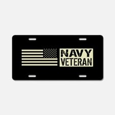 U.S. Navy: Veteran (Black Flag) Aluminum License P