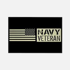 U.S. Navy: Veteran (Black Flag) Magnets