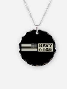 U.S. Navy: Veteran (Black Flag) Necklace