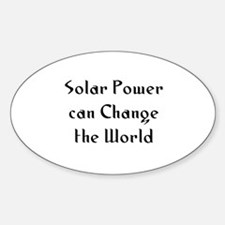 Solar Power can Change the Wo Oval Decal