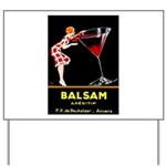 Balsam Aperitif Yard Sign