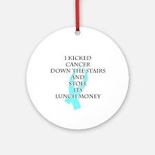 Cancer Bully (Light Blue Ribbon) Round Ornament