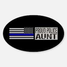 Police: Proud Aunt (Black Flag Blue Decal