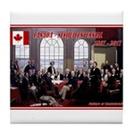 Canadian Sesquicentennial Print Tile Coaster