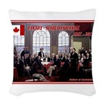 Canadian Sesquicentennial Print Woven Throw Pillow