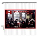 Canadian Sesquicentennial Print Shower Curtain