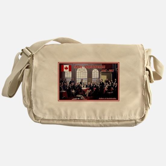 Canadian Sesquicentennial Print Messenger Bag