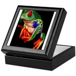 Colorful Frog Keepsake Box