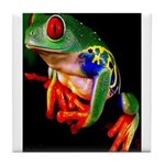 Colorful Frog Tile Coaster