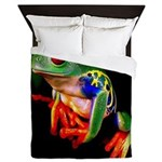 Colorful Frog Queen Duvet