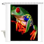 Colorful Frog Shower Curtain