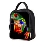 Colorful Frog Neoprene Lunch Bag