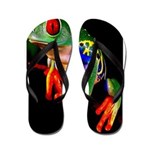 Colorful Frog Flip Flops
