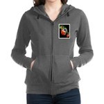 Colorful Frog Women's Zip Hoodie