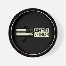 U.S. Air Force: Veteran (Black Flag) Wall Clock