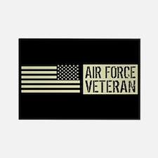 U.S. Air Force: Veteran (Black Fl Rectangle Magnet