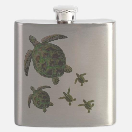 Unique Puerto rico beach Flask