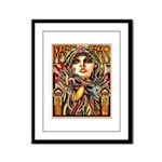 Mardi Gras Mask and Beautiful Woman Framed Panel P