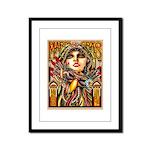 Mardi Gras Mask and Beautiful Woman Framed Panel P