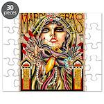 Mardi Gras Mask and Beautiful Woman Puzzle