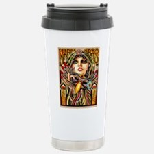 Mardi Gras Mask and Beautiful Woman Travel Mug