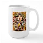 Mardi Gras Mask and Beautiful Woman Mugs