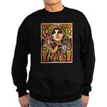 Mardi Gras Mask and Beautiful Woman Sweatshirt
