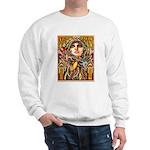 Mardi Gras Mask and Beautiful Woman Sweater