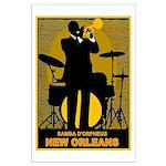 Samba D'Orpheus New Orleans Trumpet Player Poster