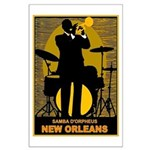 Samba D'Orpheus New Orleans Trumpet Player Poster