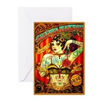 Chapel Tattooed Beautiful Lady Greeting Cards