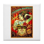 Chapel Tattooed Beautiful Lady Tile Coaster